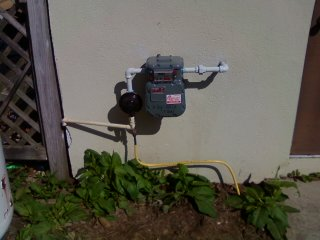 Propane line regulator hookup